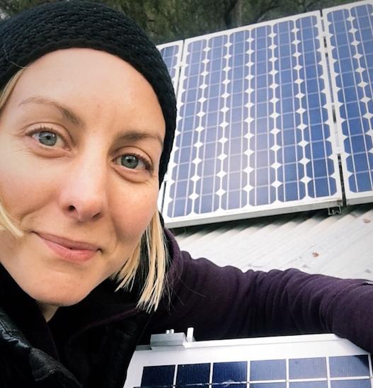 Solar panels make light work!